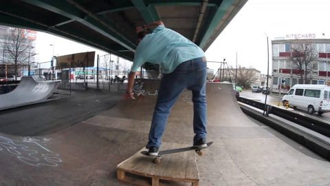 La Praille Shenanigans - Alex and Will - Treflip Fakie Manual Three Shuv out. - Will