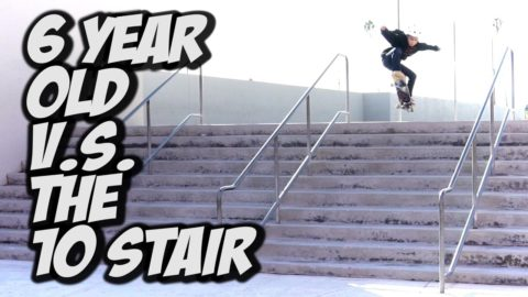 6 YEAR OLD SKATES A 10 STAIR !!! - A DAY WITH NKA - - Nka Vids