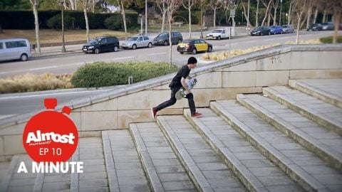 Almost A Minute EP 10 / Raw clips of Yuri VS 19 stair hubba - Almost Skateboards