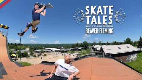 Attempting The Mini MegaRamp With Beaver Fleming  |  SKATE TALES Ep 5 | Red Bull Skateboarding