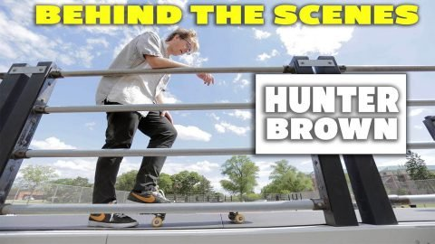 Behind The Scenes - 4 Tricks with Hunter Brown at Glen Ellyn Skatepark | Max Williams