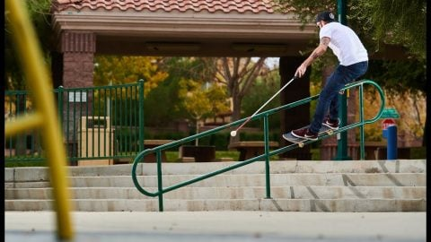 """Blind Skateboarder Justin Bishop 