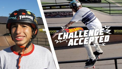 Boardslide The Long Rail - Hot Wheels Challenge Accepted | Camp Woodward