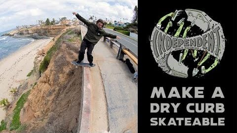 Build To Grind: How To Make A Dry Curb Skateable w/ Ace Pelka & Rhino | Independent Trucks
