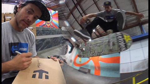 Chris Joslin Destroys The Berrics And Signs Shoes | The Berrics