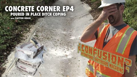 Concrete Corner - Episode 4: Poured in Place Ditch Coping | ConfusionMagazine