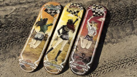 "DARKSTAR x HARLEY-DAVIDSON® ""MOTOR RACES"" PRO SERIES - Darkstar Skateboards"