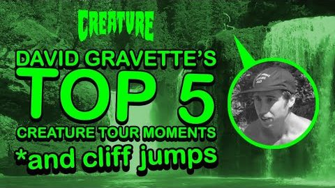 David Gravette's Top 5 Creature Tour Moments *and cliff jumps | Creature Skateboards