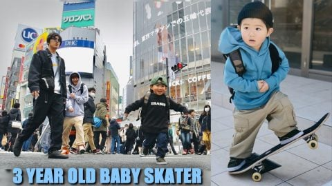 DAY WITH A 3 YEAR OLD SKATER IN TOKYO | Luis Mora