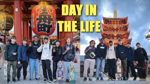 DAY WITH THE TOKYO SKATE CREW | Luis Mora