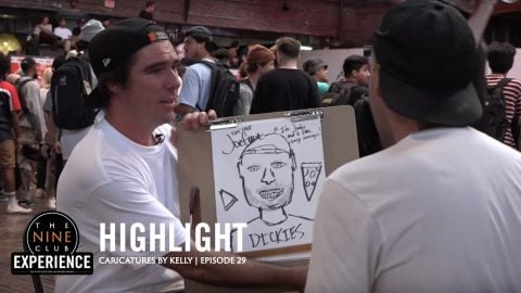 How Not To Draw Caricatures Of Your Friends | Kelly Hart at Zumiez BFF | The Nine Club Highlights