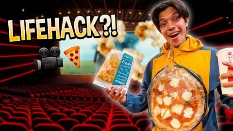 how to sneak an entire pizza into the movies.. (LIFE HACK) | Chris Chann