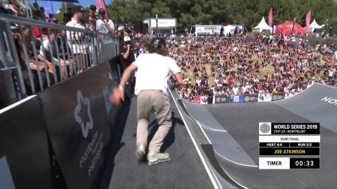 Joe Atkinson | 1st place - Occitanie World Skate Roller Freestyle Park Semi Final| FISE Montpellier | FISE
