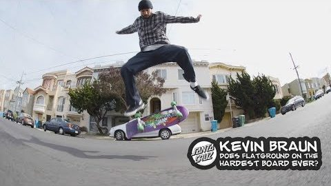 Kevin Braun flipping and ripping on a 26 inch Slasher! | Santa Cruz Skateboards