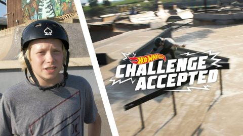 Kickflip Front Board The 8 Stair Rail - Hot Wheels Challenge Accepted | Camp Woodward