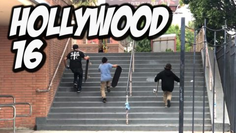 KIDS SKATE HOLLYWOOD HIGH 16 STAIR - A DAY WITH NKA - - Nka Vids