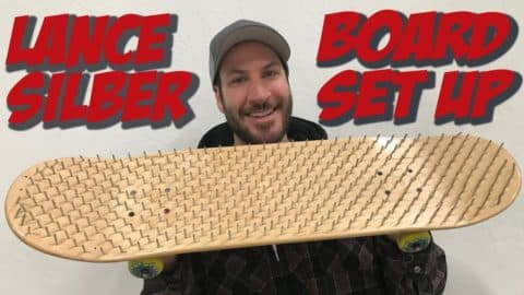 LANCE SILBER BED OF NAILS BOARD SET UP AND INTERVIEW !!! - Nka Vids