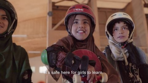 Learning to Skateboard in a Warzone (if you're a girl): TRAILER | Skateistan