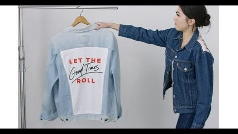 Levi's® DIY: How to Customize the Back of Your Jean Jacket   Levi's®