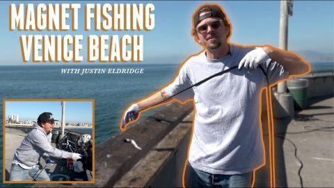 Magnet Fishing Off The Venice Beach Pier - What Did We Find ??? | The Nine Club Highlights