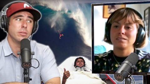 Nora Vasconcellos' Boyfriend Albee Layer Almost Died Surfing Jaws?! | Nine Club Highlights
