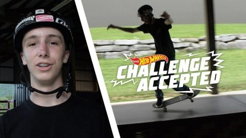 Nose Manual The Boxes And 180 Off - Hot Wheels Challenge Accepted | Camp Woodward