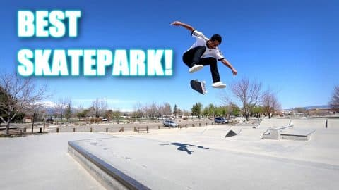 ONE OF THE BEST SKATEPARKS IN NEVADA! - Luis Mora