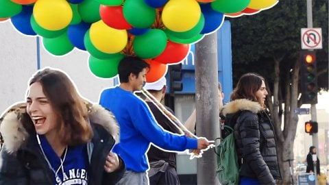 Pinning 100 Balloons on Random People | Chris Chann