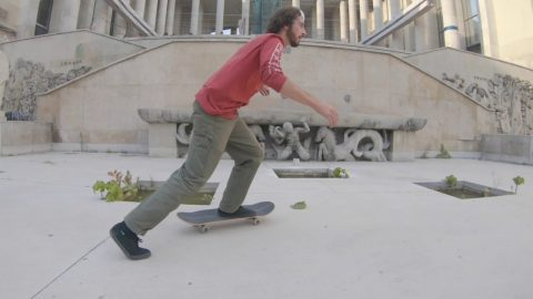 Playing skateboards at Le Dome with Ethan Loy   Madars Apse