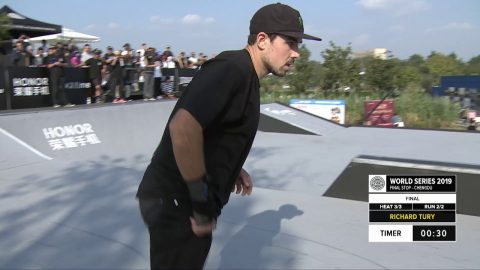 Richard Tury | 3rd place – VOGUE ME Skateboard Street Pro Final | FISE Chengdu 2019 | FISE