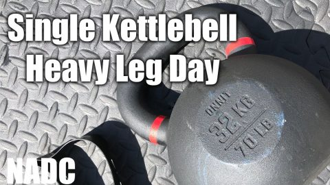 Single Kettlebell Workout Heavy Leg Day NADC | Neen Williams
