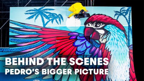 Skate behind the scenes of Pedro Barros' virtual globe session. - Red Bull