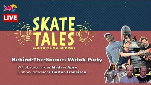 Skate Tales Watch Party LIVE w/ Madars Apse & Show Producer Gaston Fransisco | Red Bull Skateboarding