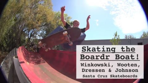 Skating a BOAT?! Winkowski, Wooten & crew at The Boardr Boat | Santa Cruz Skateboards