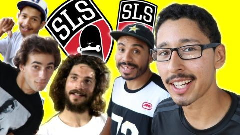 SKATING WITH STREET LEAGUE PROS - Luis Mora