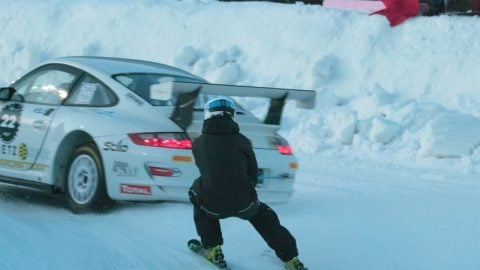 Skijoring: Where Skiing Meets High-End Sports Cars | Highsnobiety