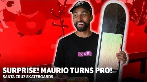 Surprise! You're PRO! Maurio McCoy Turns Pro for Santa Cruz Skateboards | Santa Cruz Skateboards