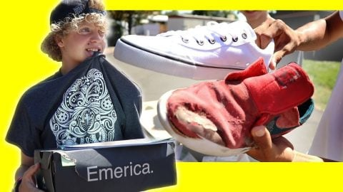 SURPRISING A FAN WITH NEW SHOES - Luis Mora