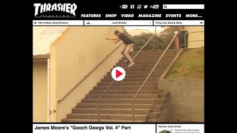 Thrasher Magazine - James Moore's Gooch Dawgs Vol. 4 Part | Tony T-bags Woodward