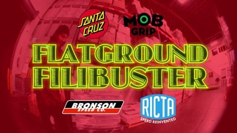 Tom Asta Flatground Filibuster on a Shaped board! - Santa Cruz Skateboards