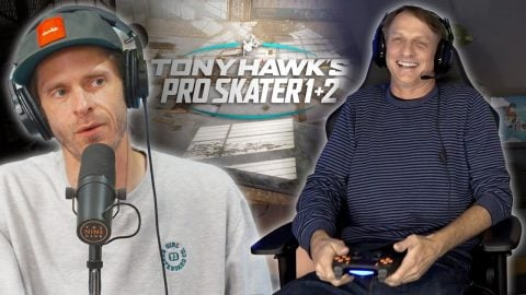 Tony Hawk Played Tony Hawk In Tony Hawk's Pro Skater On 2dudes1game Show!! | Nine Club Highlights